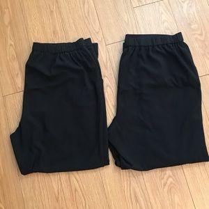 2 Pair of Kim Rogers Black Pants Size 18WS